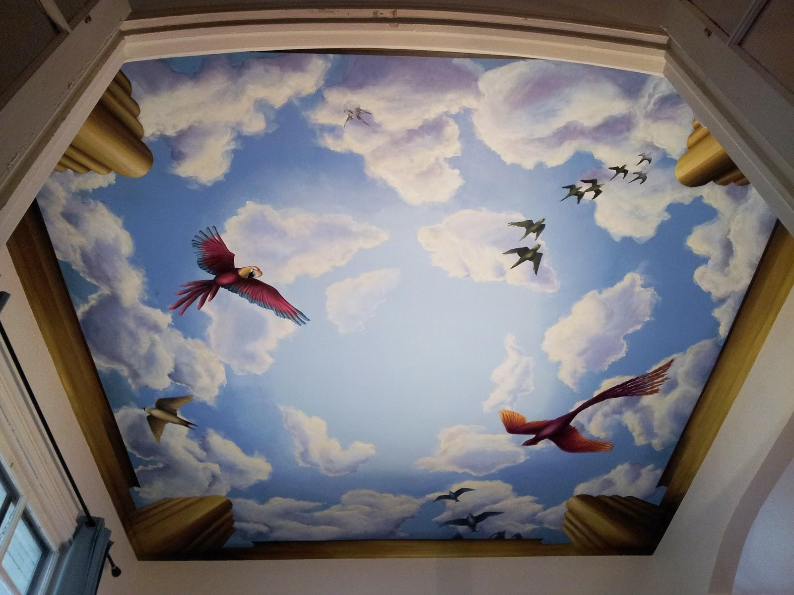 Ceiling Mural 2017 Grasscloth