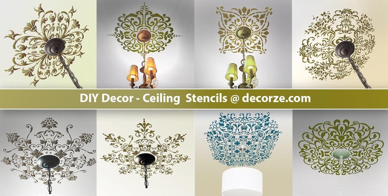 Ceiling Stencils Diy Decor Decorze