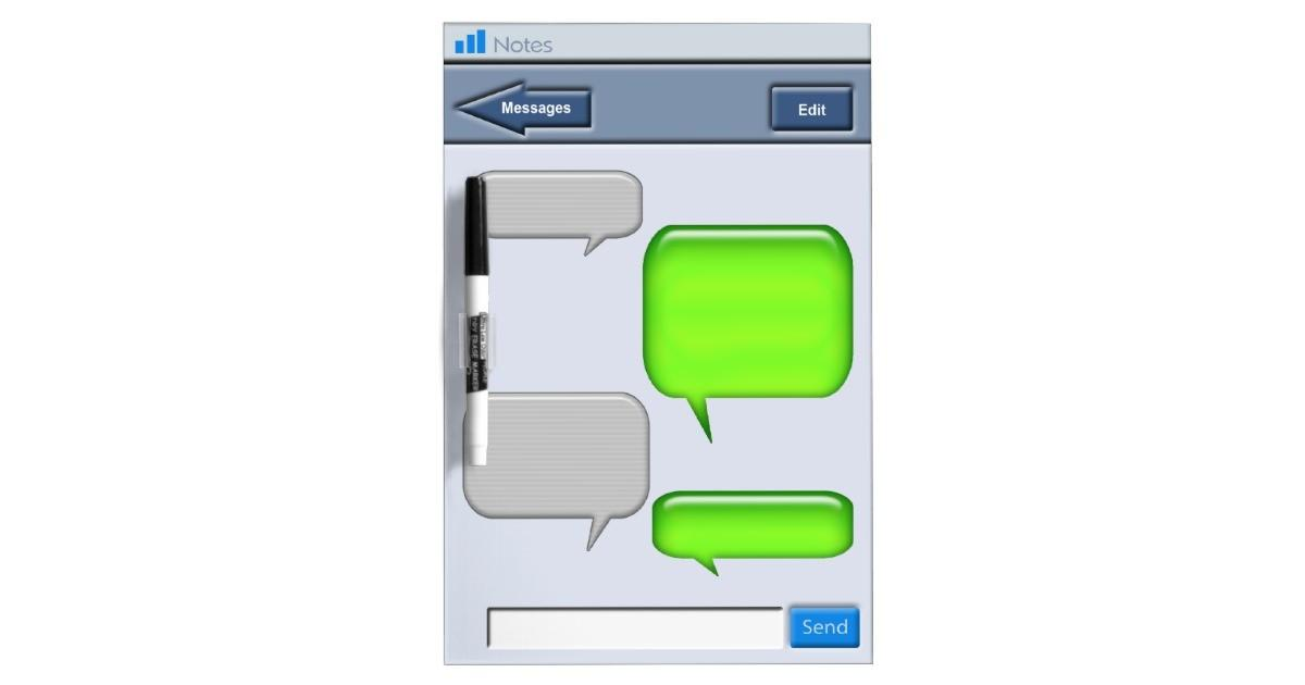 Cell Phone Text Message Novelty Dry Erase Whiteboards Zazzle