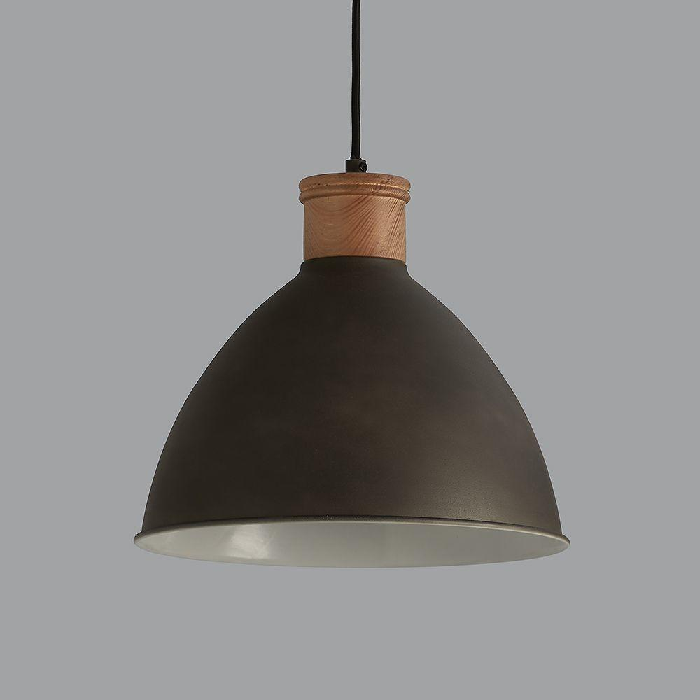 Cement Grey Wood Pendant Light