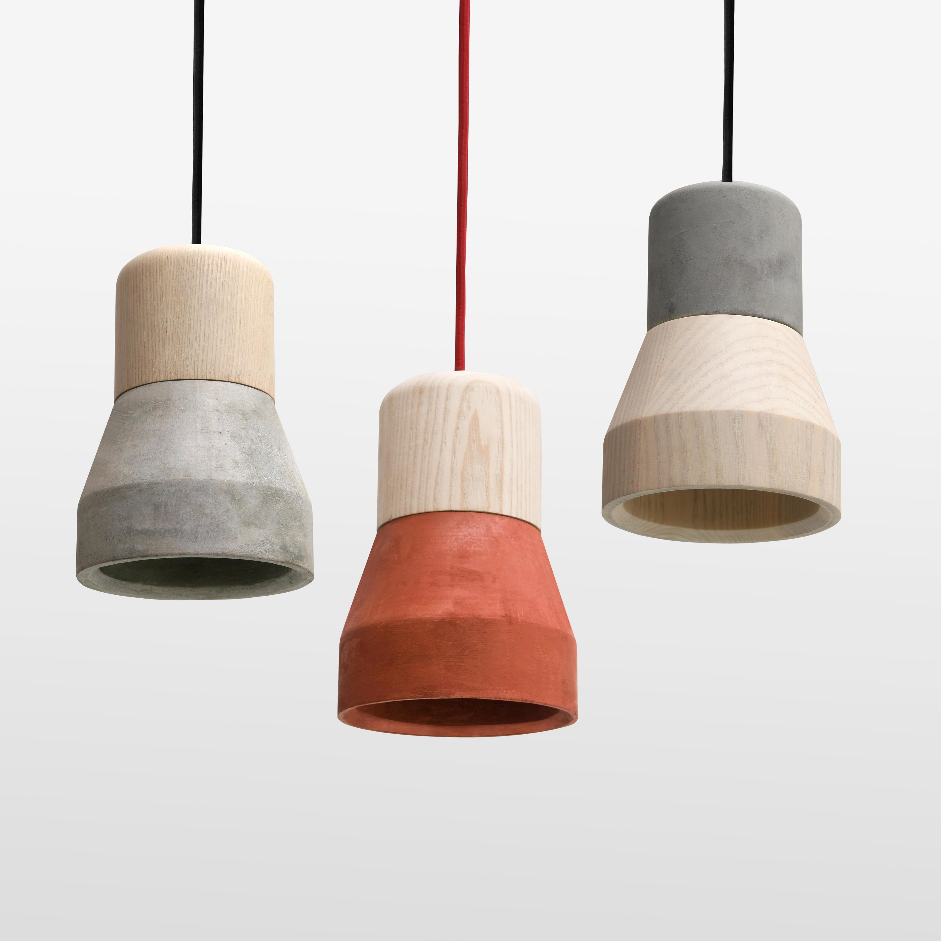 Cement Wood Pendant Light Specimen Ahalife