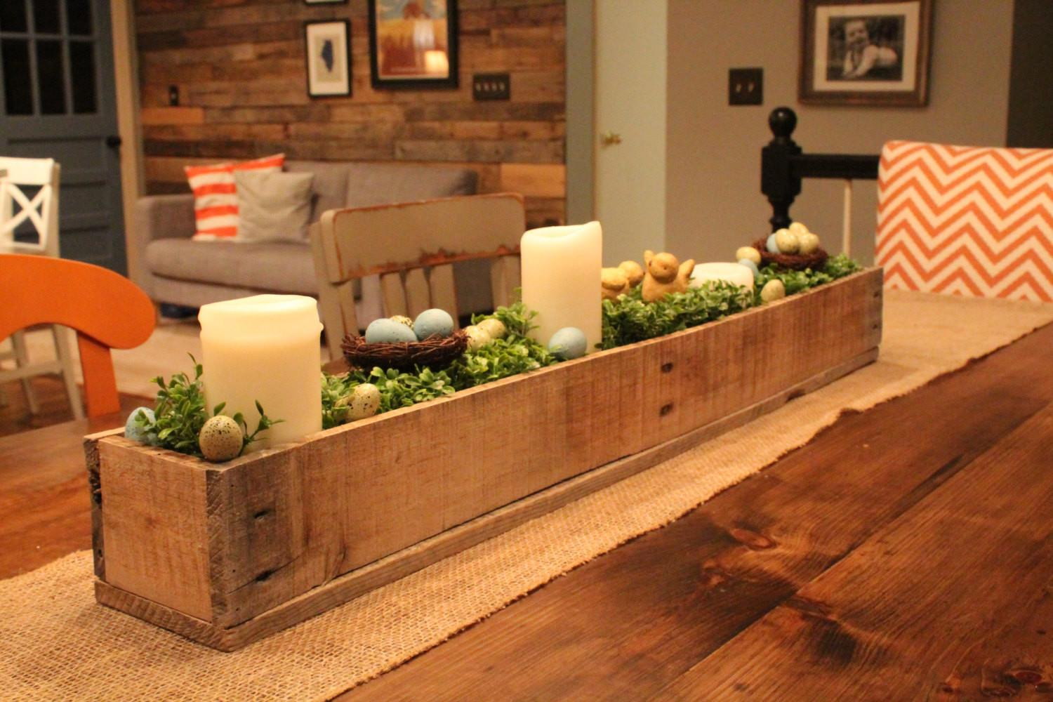 Centerpiece Box Made Rustic Reclaimed Wood Planter