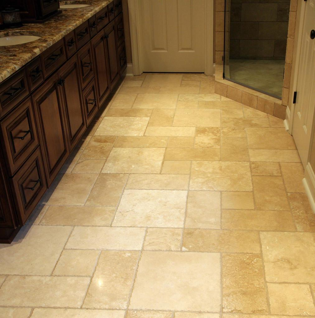 Ceramic Tile Bathroom Flooring Without Grout Useful