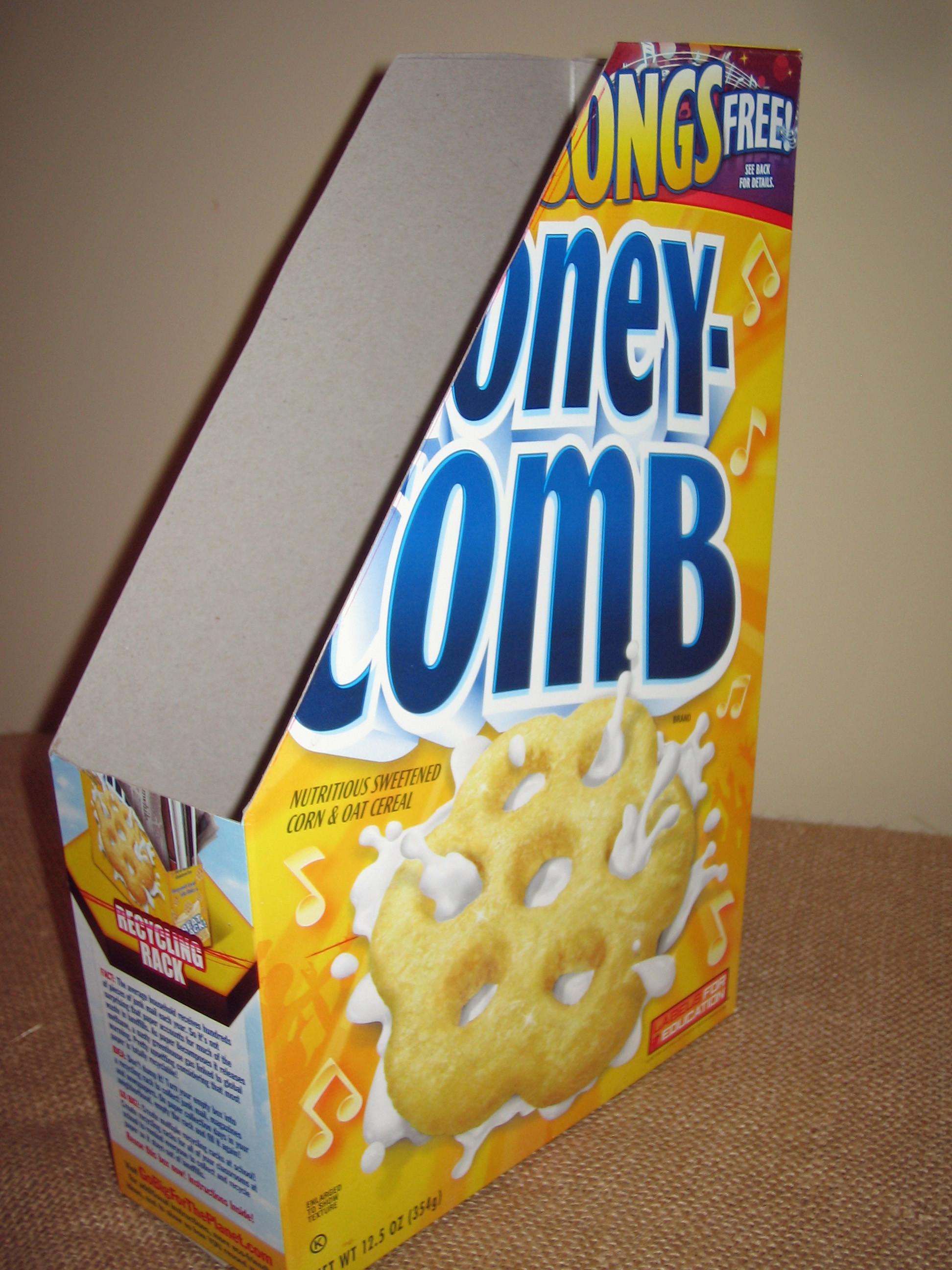Cereal Box Craft Trendy Paper Holder Rustic Crafts