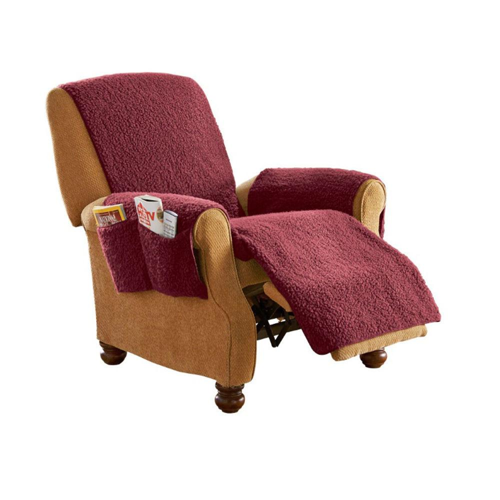 Chair Cover Decor Pet Protection Fleece Recliner Furniture