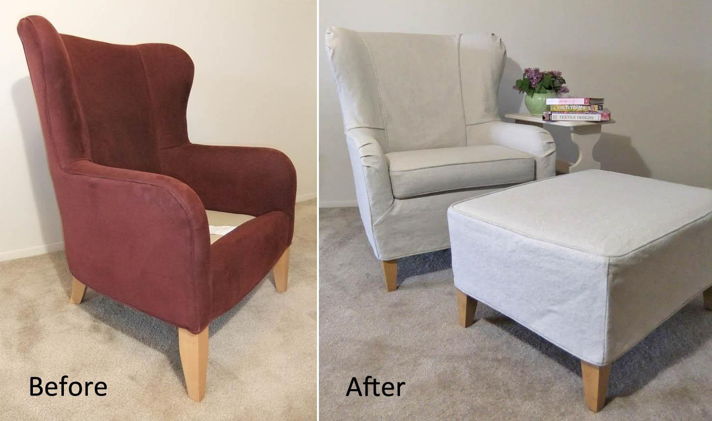 Chair Slipcover Diy Covers Slipcovers Bed