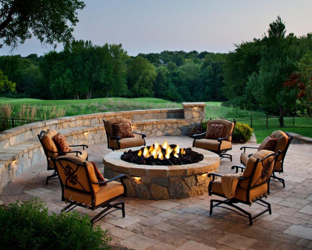 Chairs Around Fire Pit Phenomenal Designing Patio