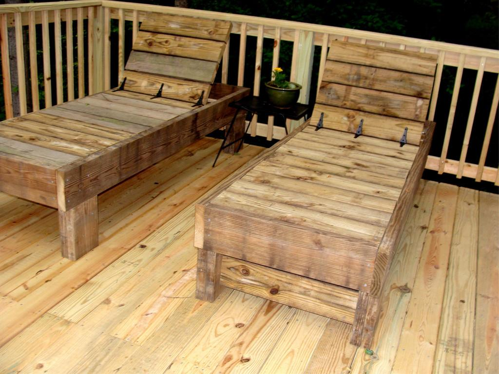 Chaise Lounges Husband Made Scrap