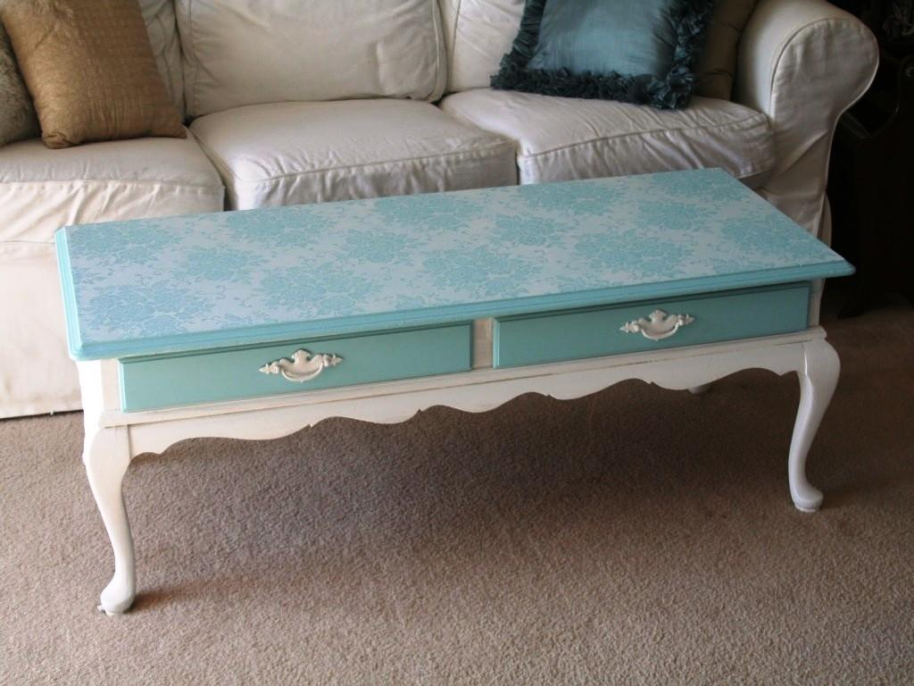 Chalk Painted Coffee Tables Wood Jessica Color Simple