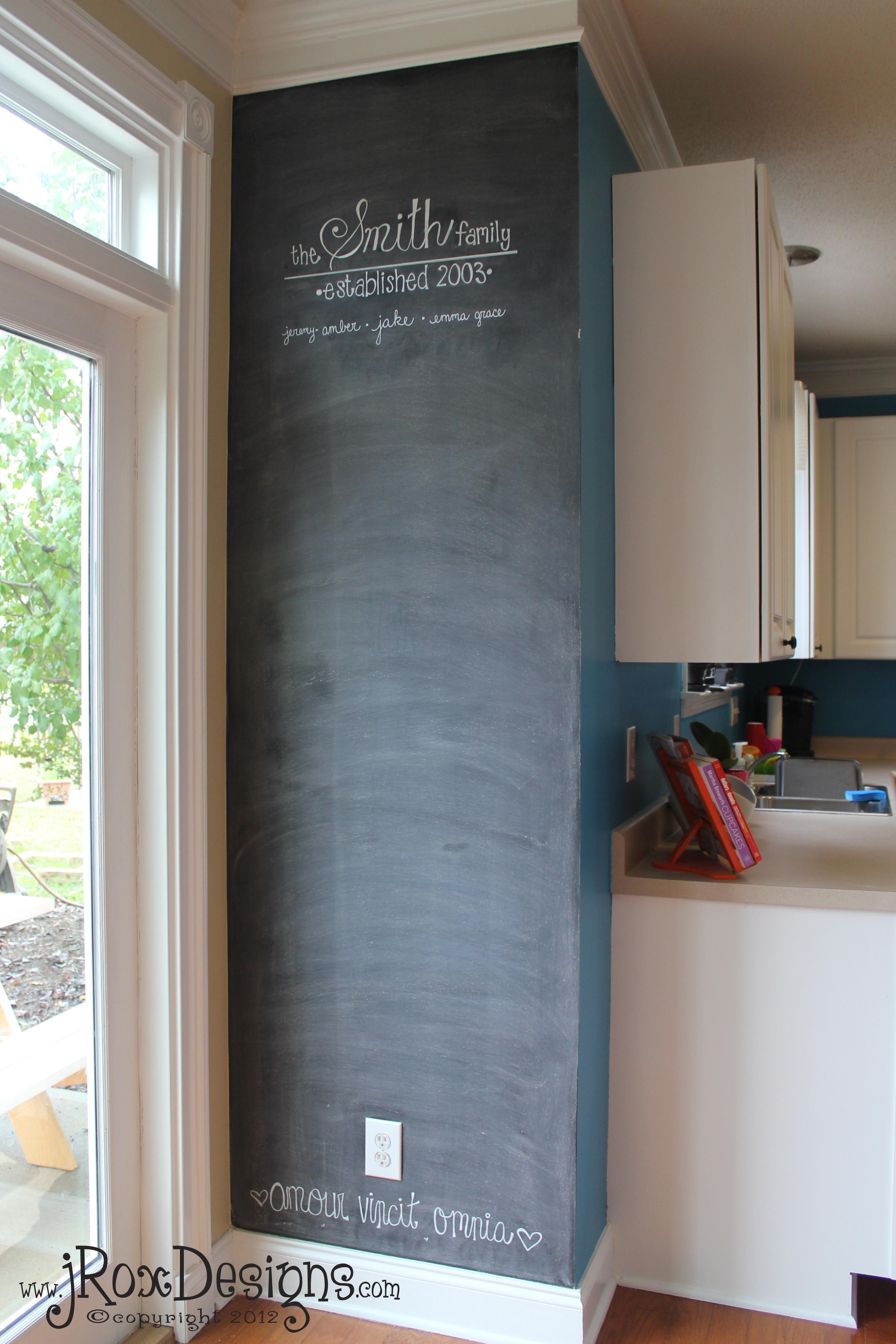 Chalkboard Accent Wall Inspiration Wednesday Project