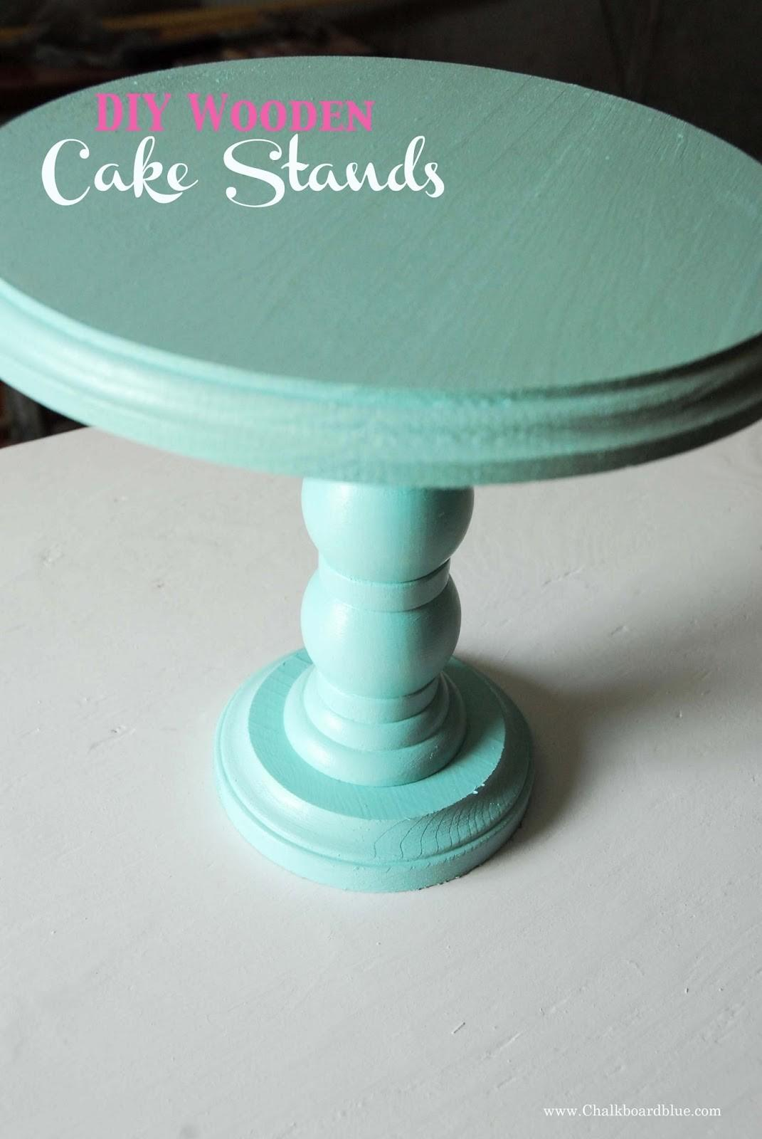 Chalkboard Blue Diy Wooden Cake Stands