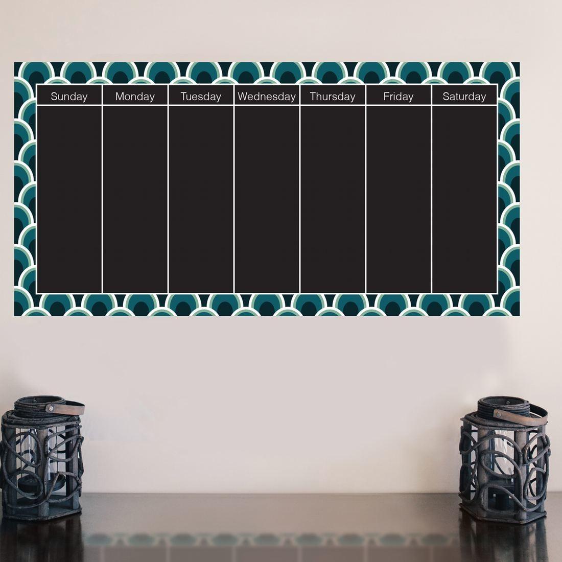 Chalkboard Calendar Decal Brit Shop Diy
