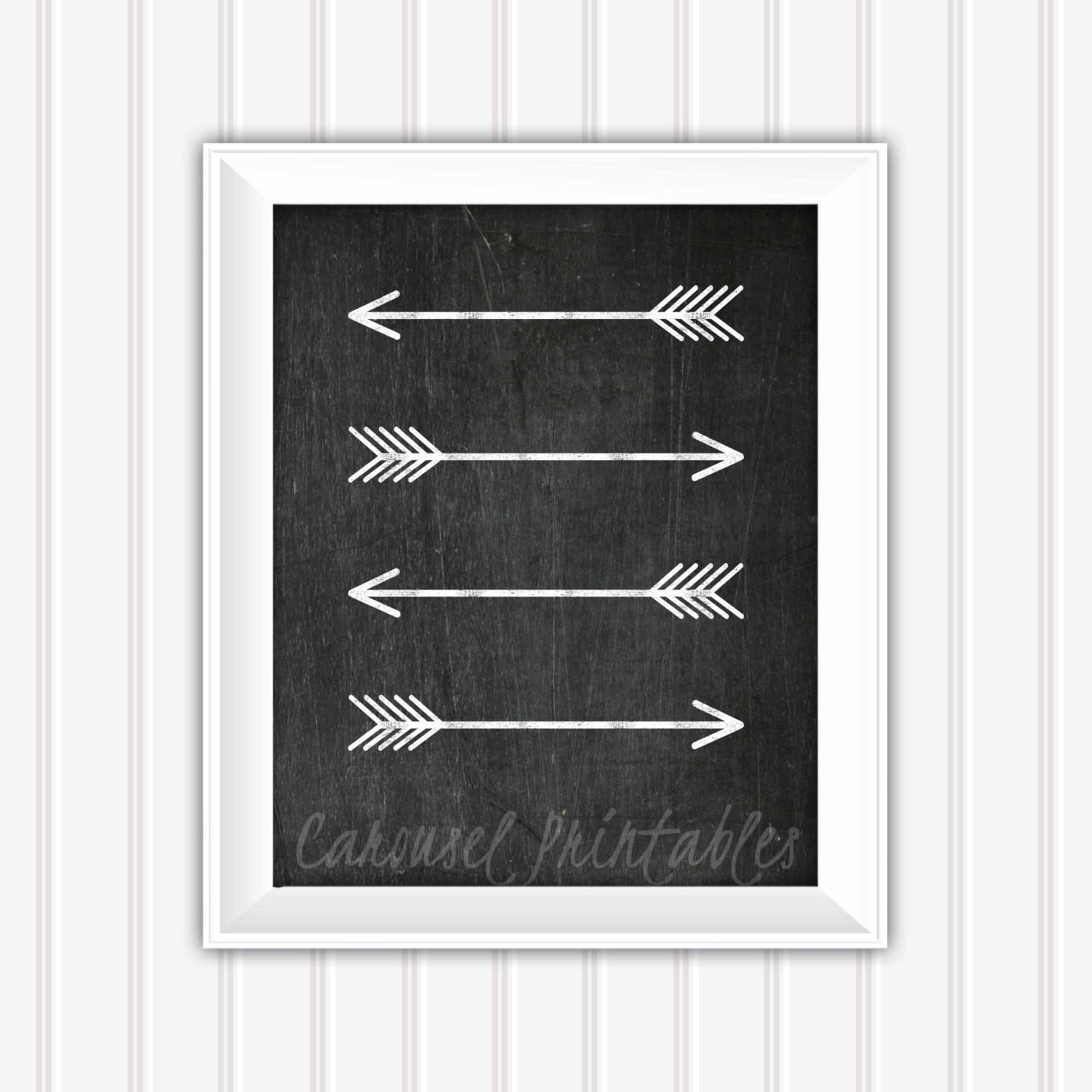 Chalkboard Wall Art Arrow Printable