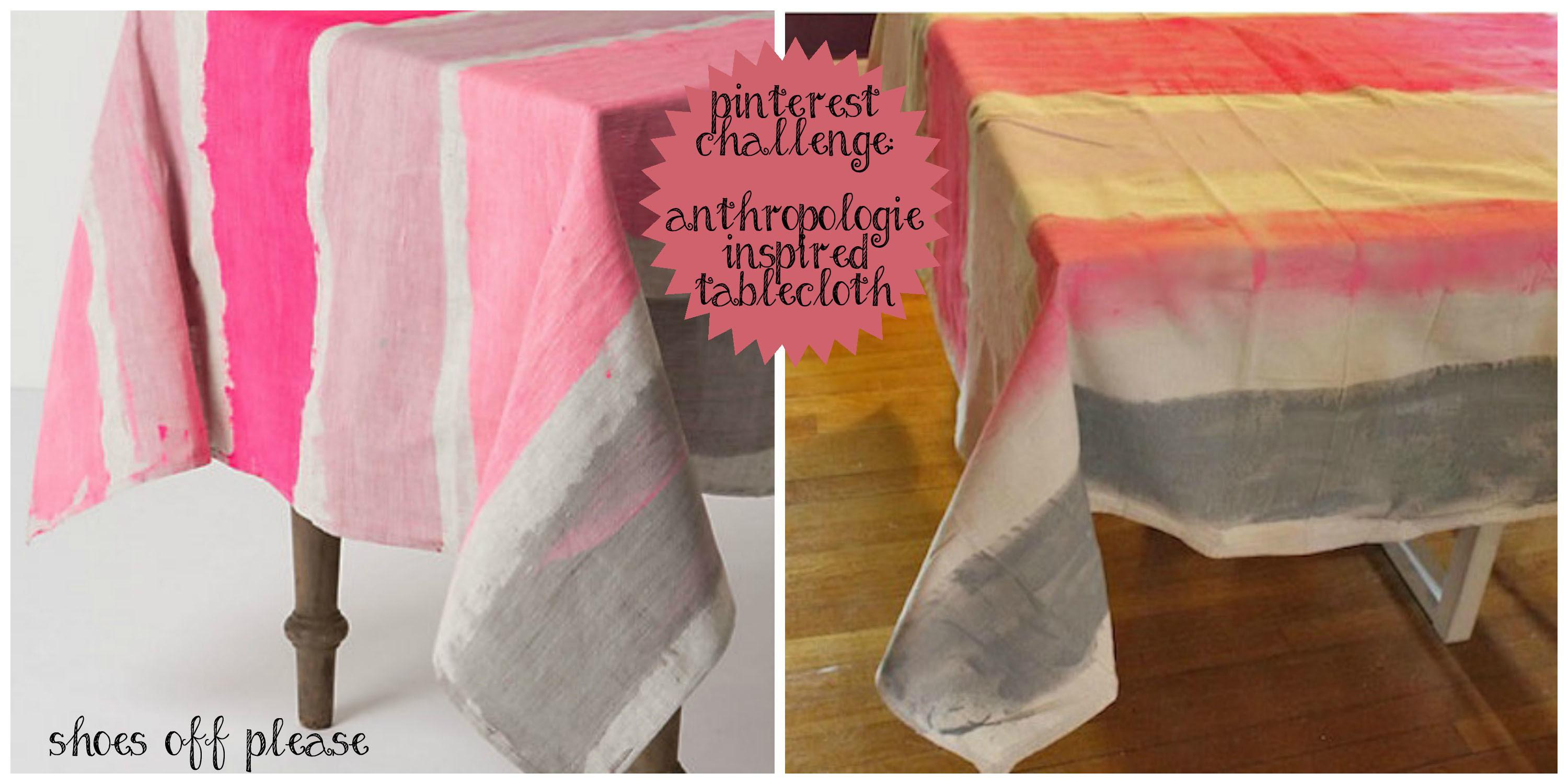 Challenge Diy Anthropologie Tablecloth Shoes