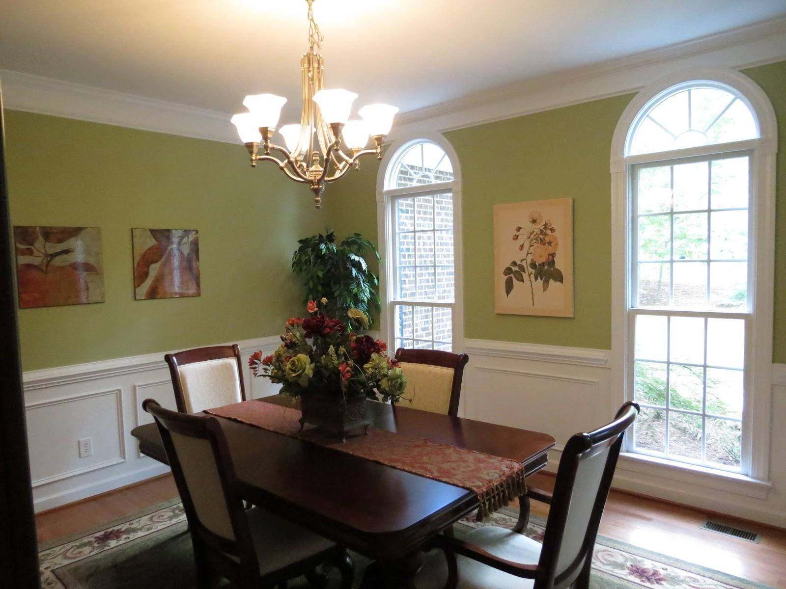 Chandeliers Placement Dining Room Green Yellow
