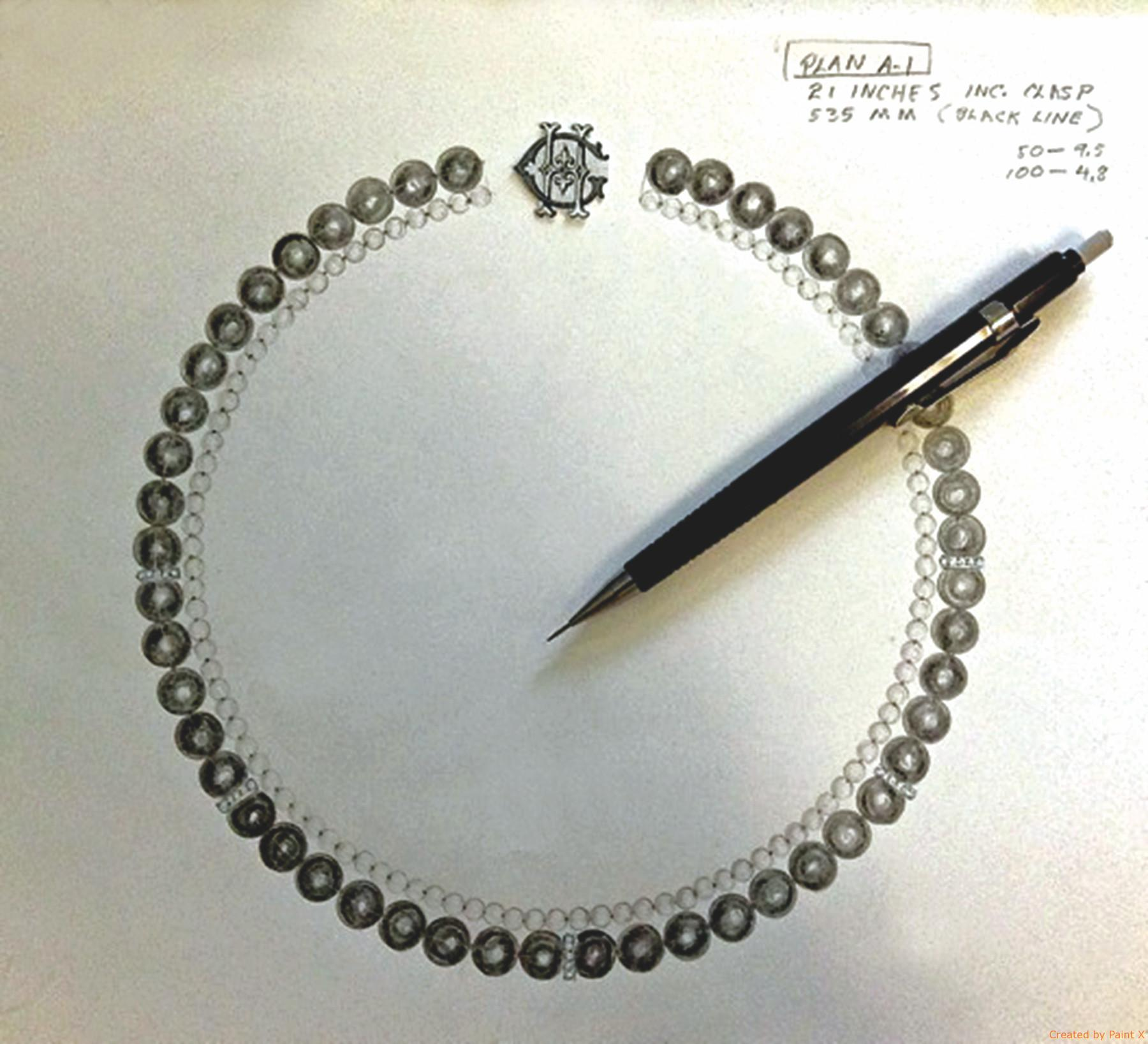 Chanel Black White Pearl Necklace Replica Jewelry
