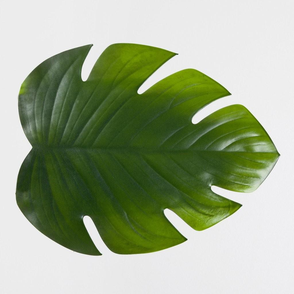 Channel Tropical Vibe These Palm Leaf Place Mats