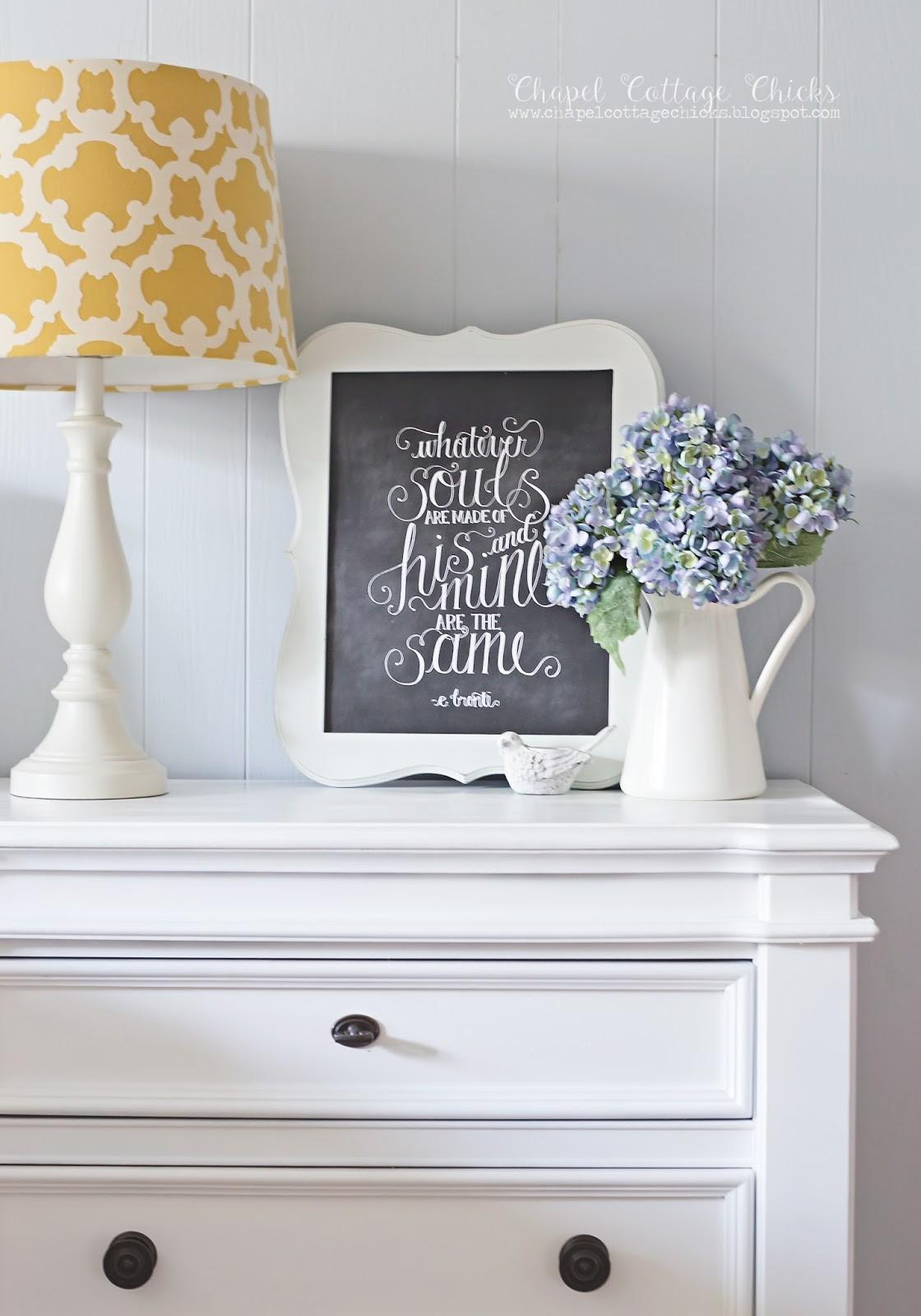 Chapel Cottage Chicks New Nightstand Gets Makeover
