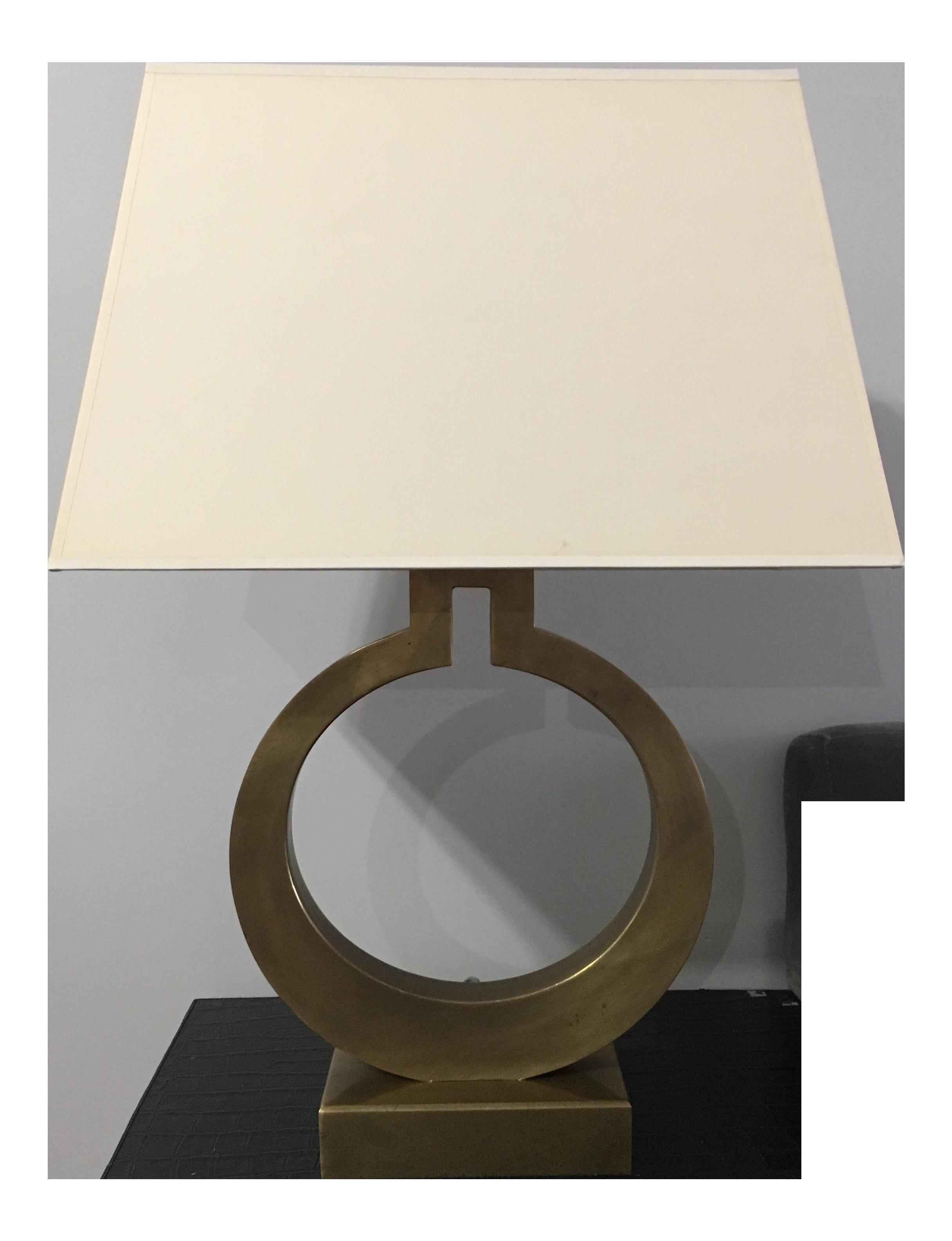 Chapman Bronze Finished Ring Form Table Lamp Chairish