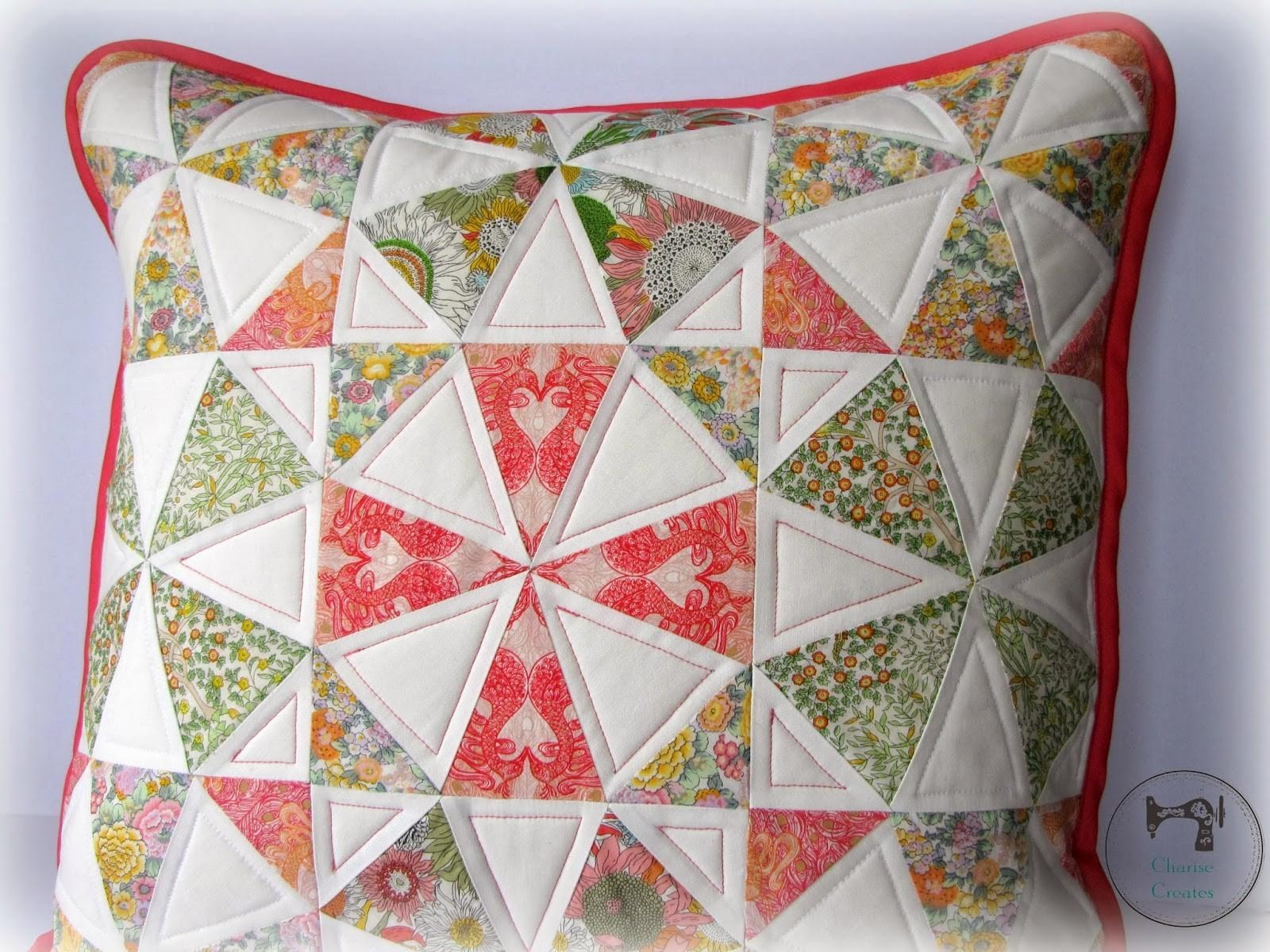 Charise Creates Spring Kaleidoscope Pillow