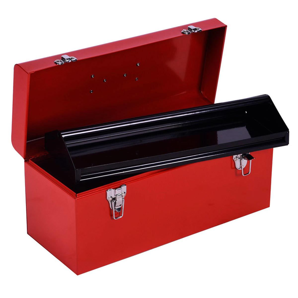 Charles Bentley Red Tool Box Metal Latches