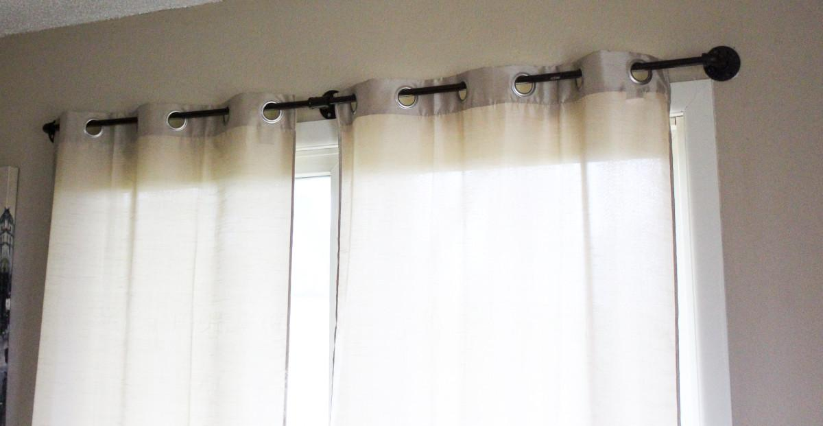 Cheap Diy Pipe Curtain Rods Spoonful Sparkles