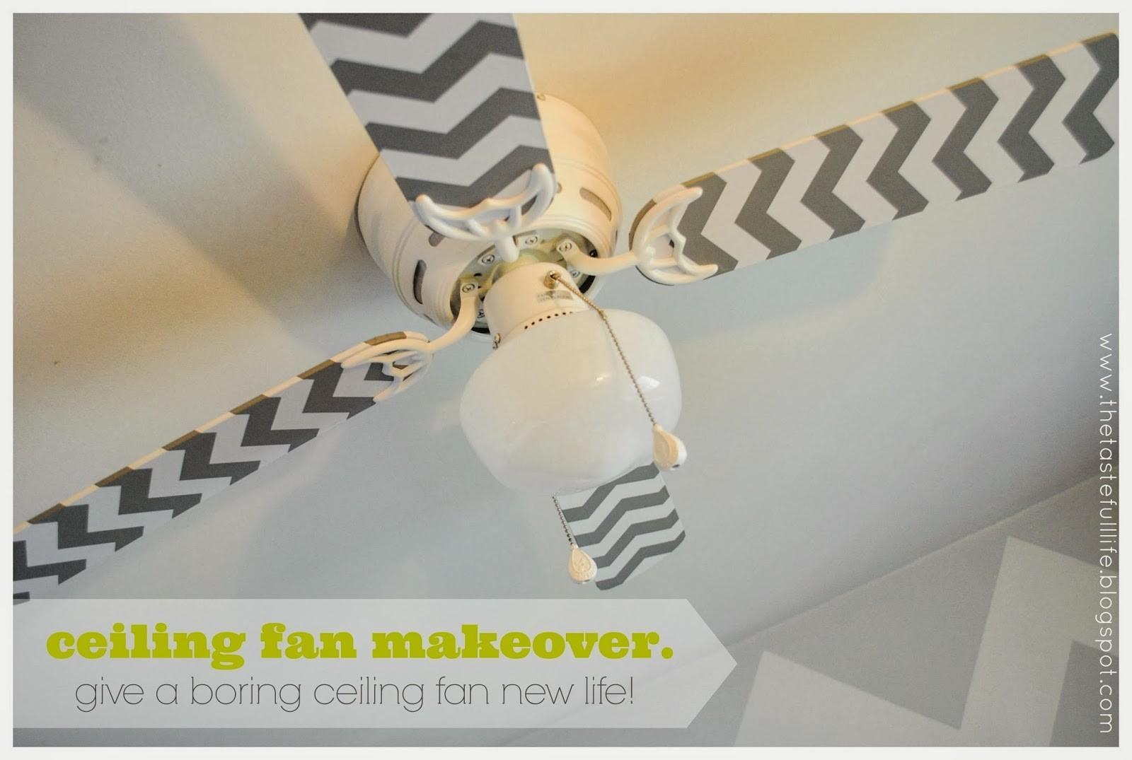 Cheap Easy Ceiling Fan Makeover Tutorial Pretty Real