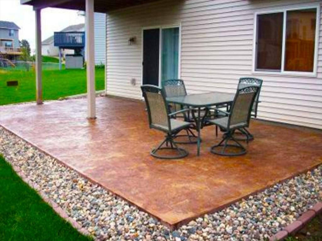 Cheap Garden Paving Concrete Patio Design Ideas Plain
