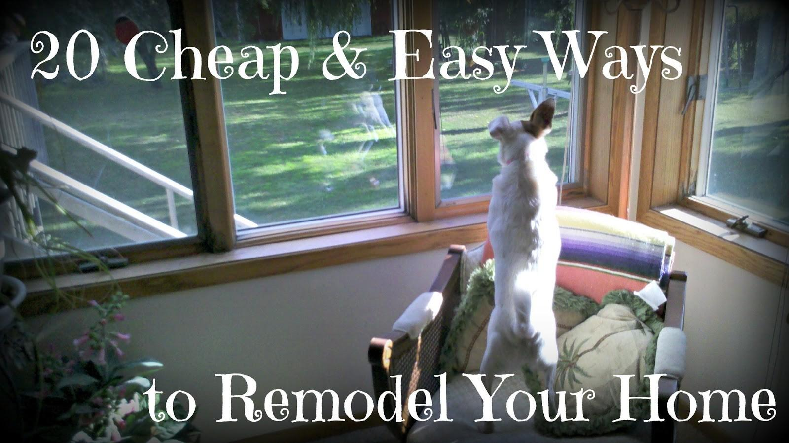 Cheapskate Life Cheap Easy Ways Remodel Your