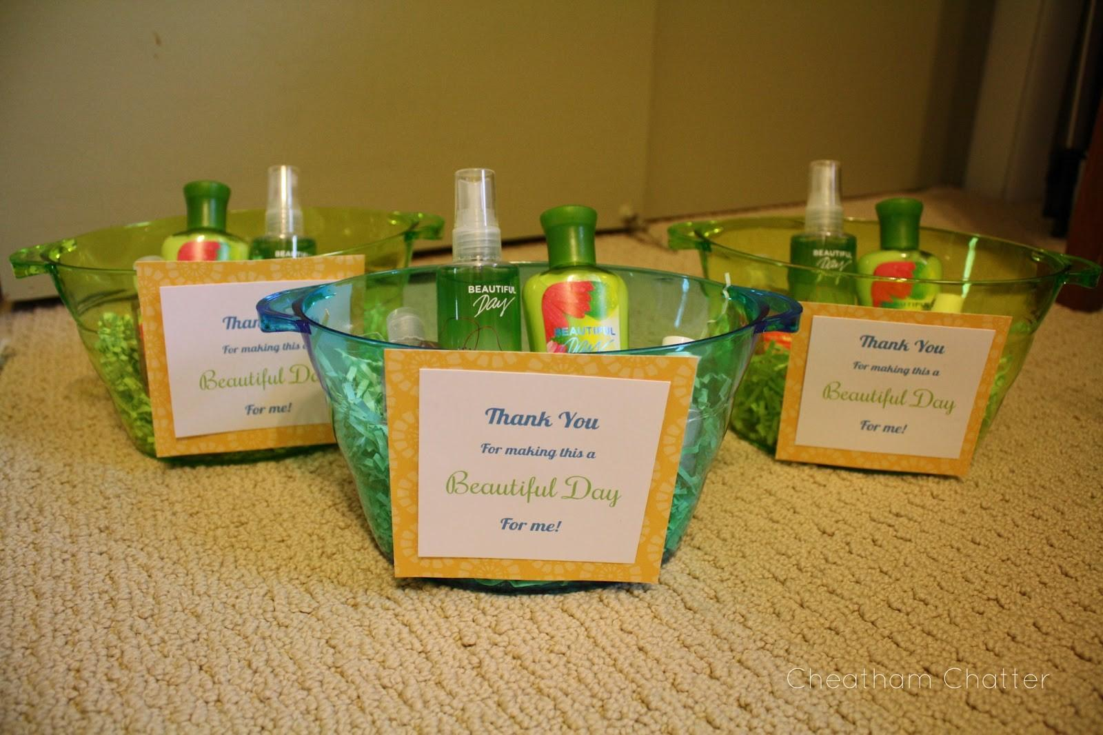 Cheatham Chatter Baby Shower Favors Hostess Gifts