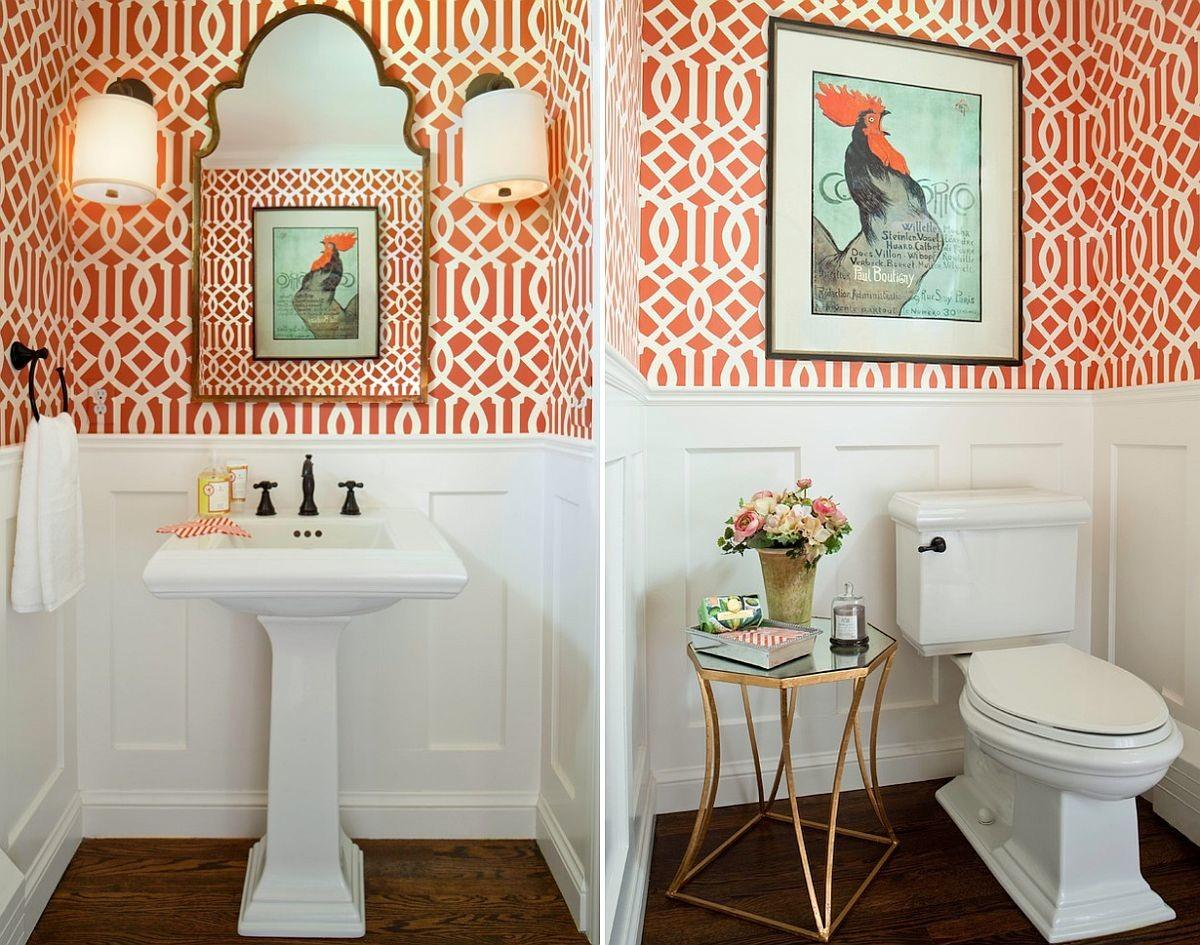 Cheerful Spunk Enliven Your Powder Room Splash