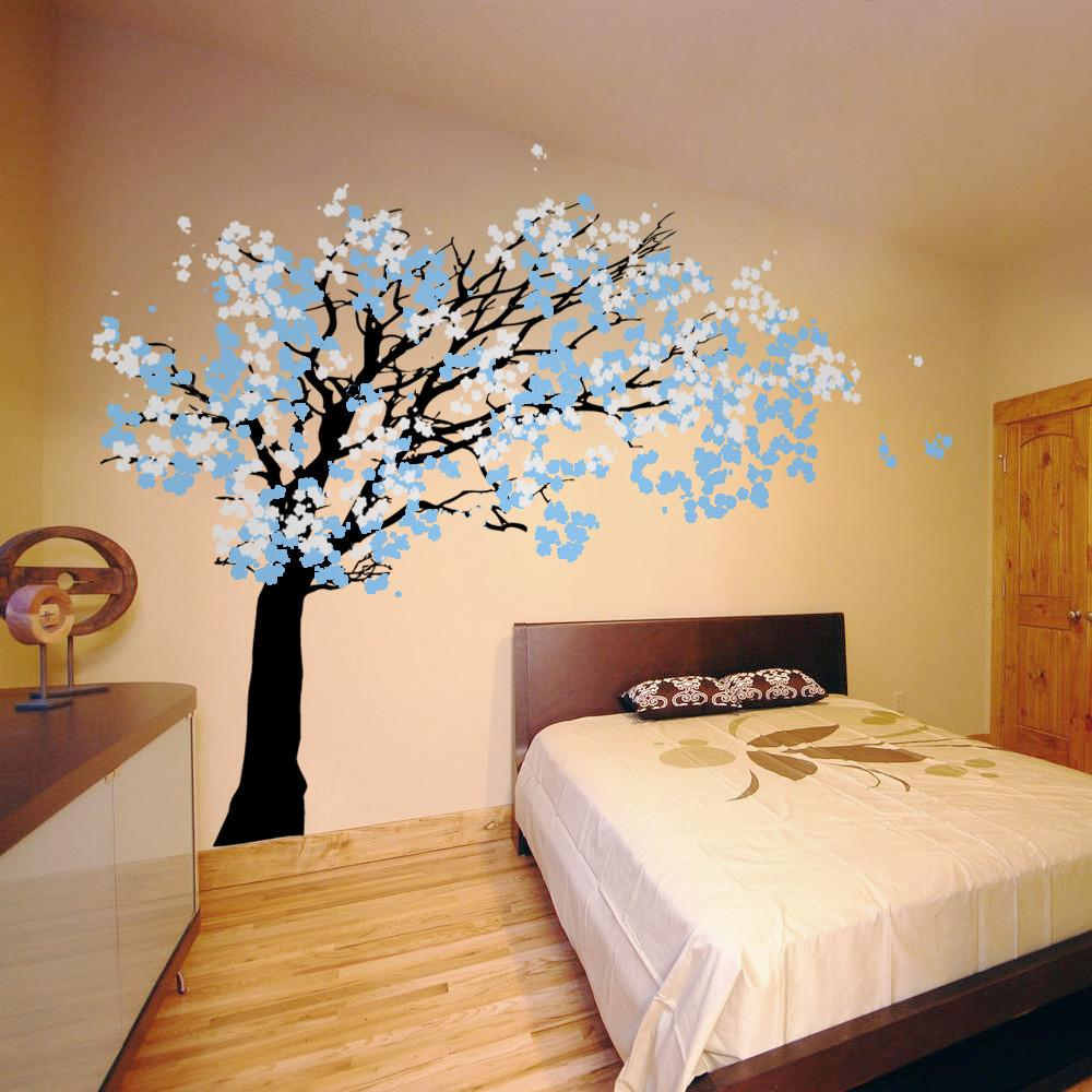 Cherry Blossom Tree Blowing Wind Wall Decal