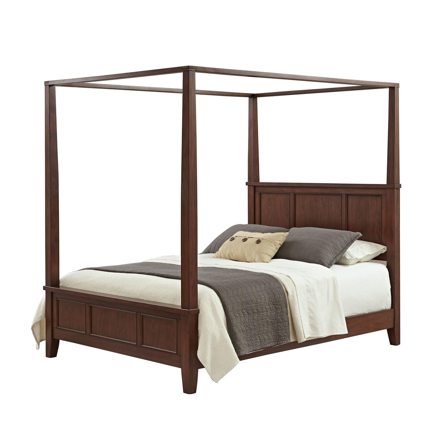 Chesapeake Cherry King Canopy Bed Home Styles Furniture