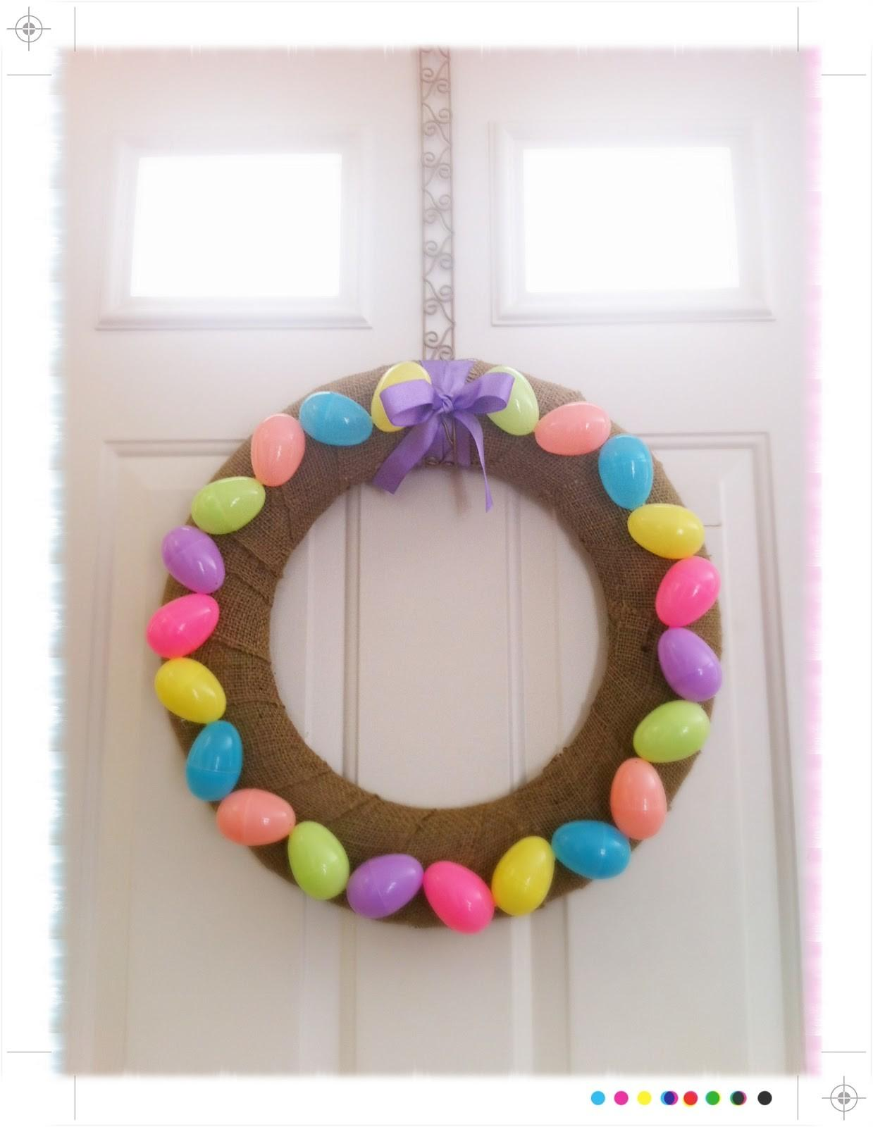 Chevron Pattern Easter Wreath Cheniful