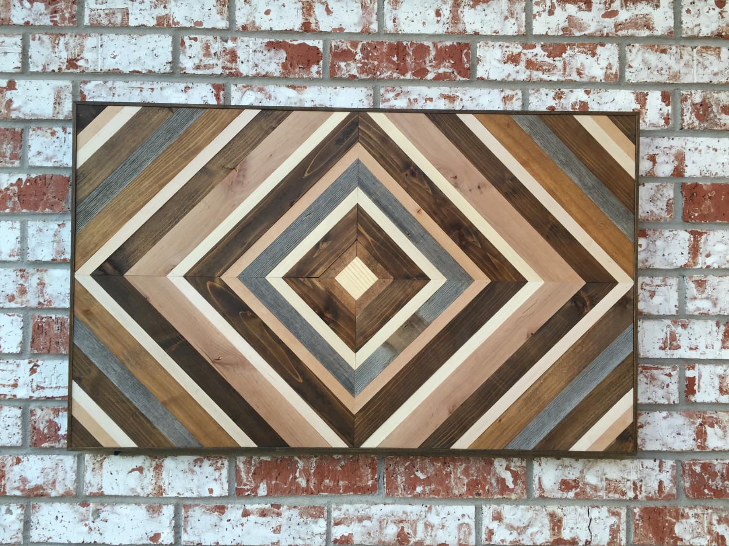 Chevron Wood Wall Art Sculpture Reclaimed