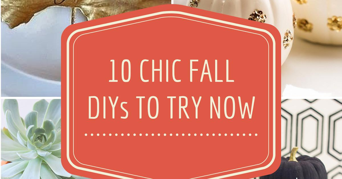 Chic Fall Decor Ideas Try Now