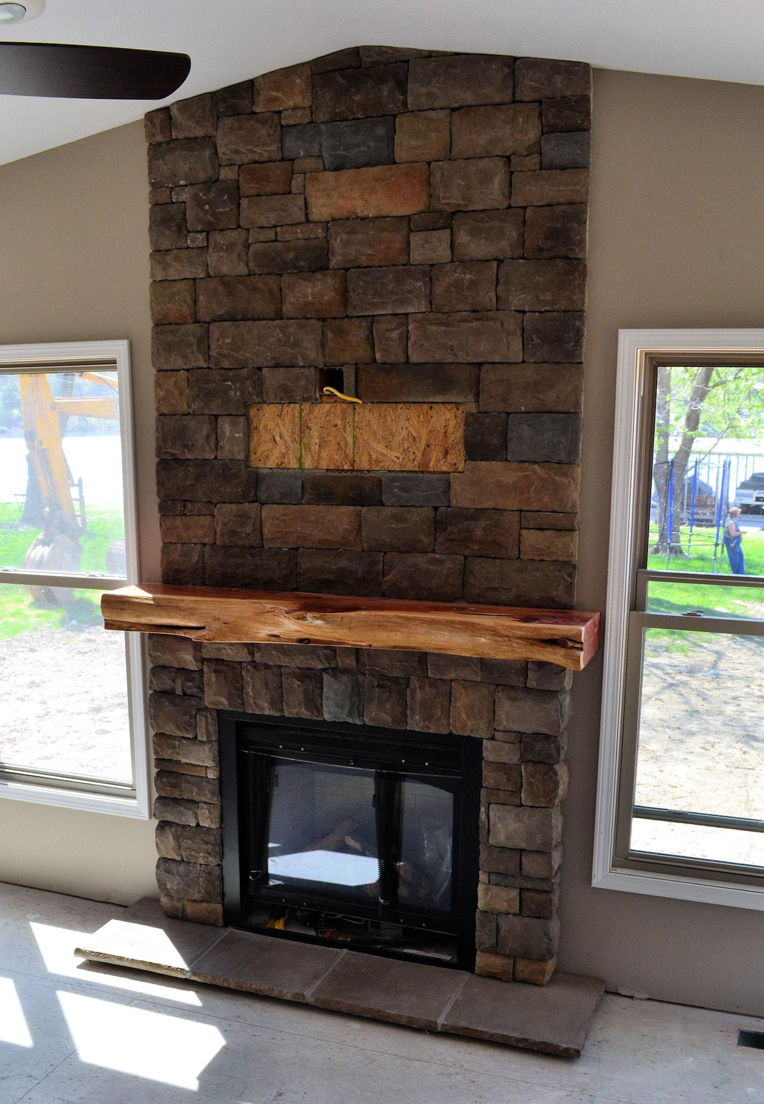 Chic Fireplace Ideas Stone Fireplaces Mantle Mantel Brick