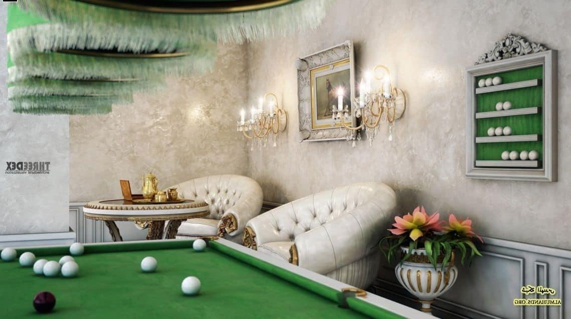 Chic Luxury Billiar Room Idea Attractive Billiard