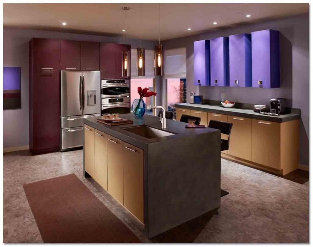 Chic Modern Kitchen Color Combinations Colors