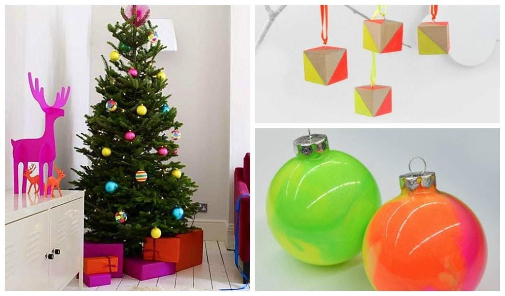 Chic Neon Diy Christmas Trees Ornaments