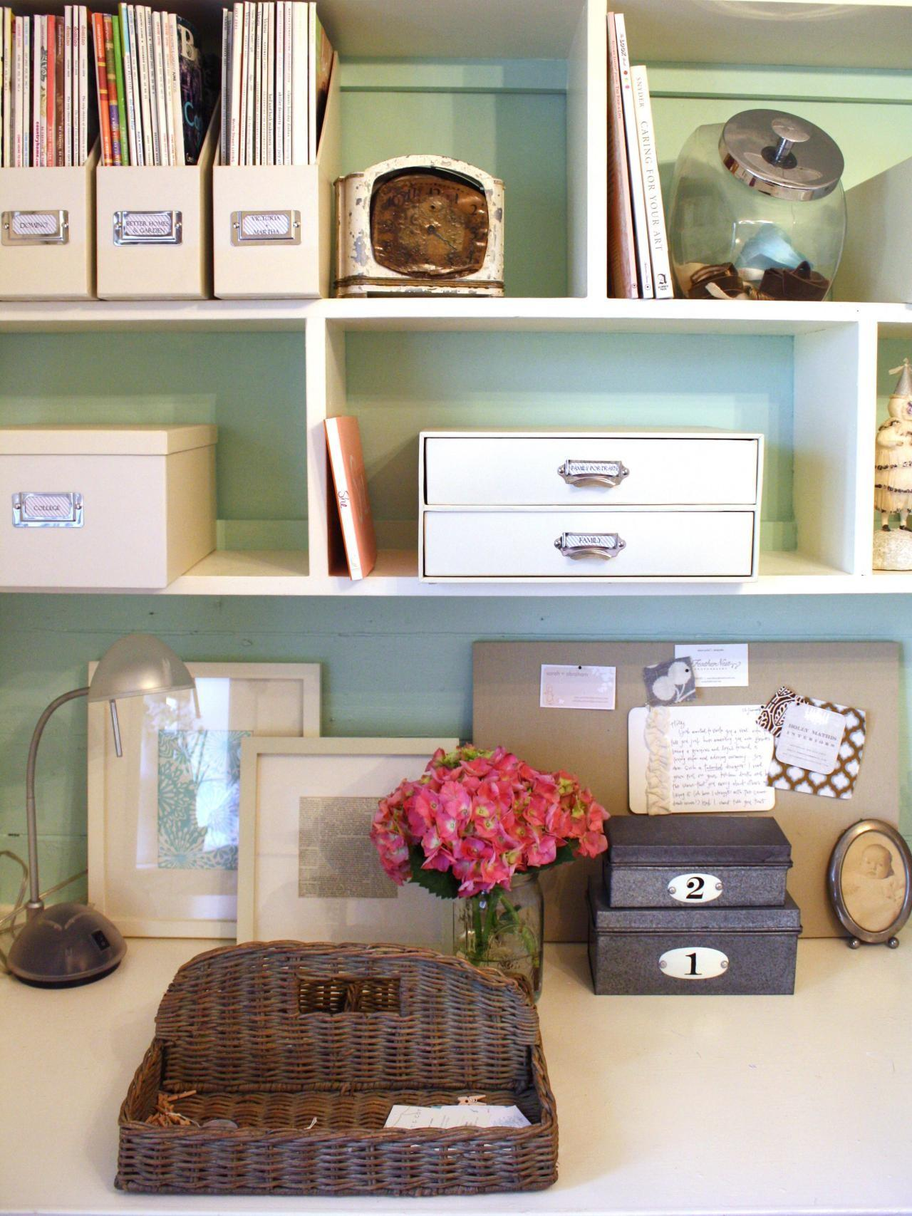 Chic Organized Home Office Under 100