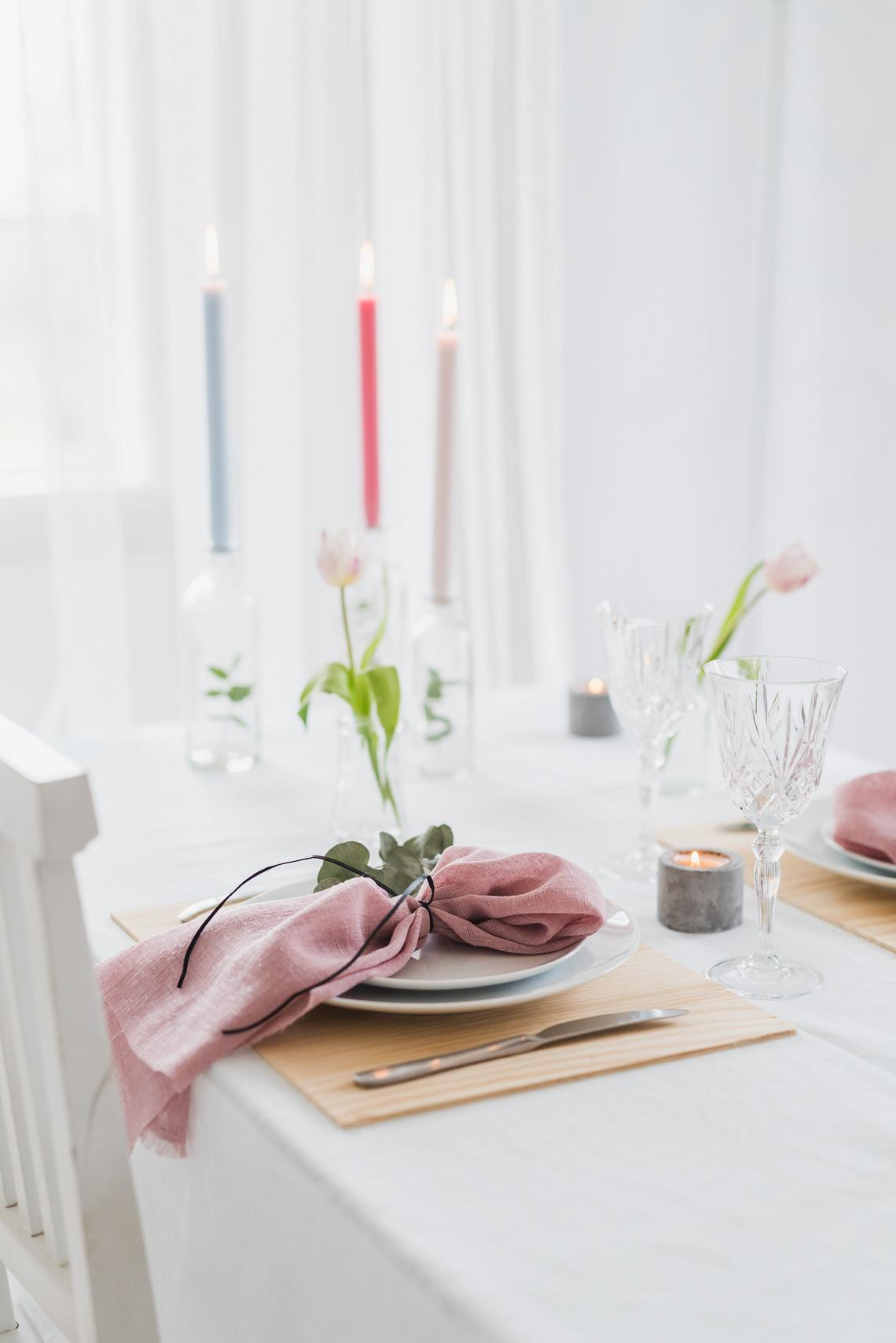 Chic Scandinavian Style Dinner Party Table Styling