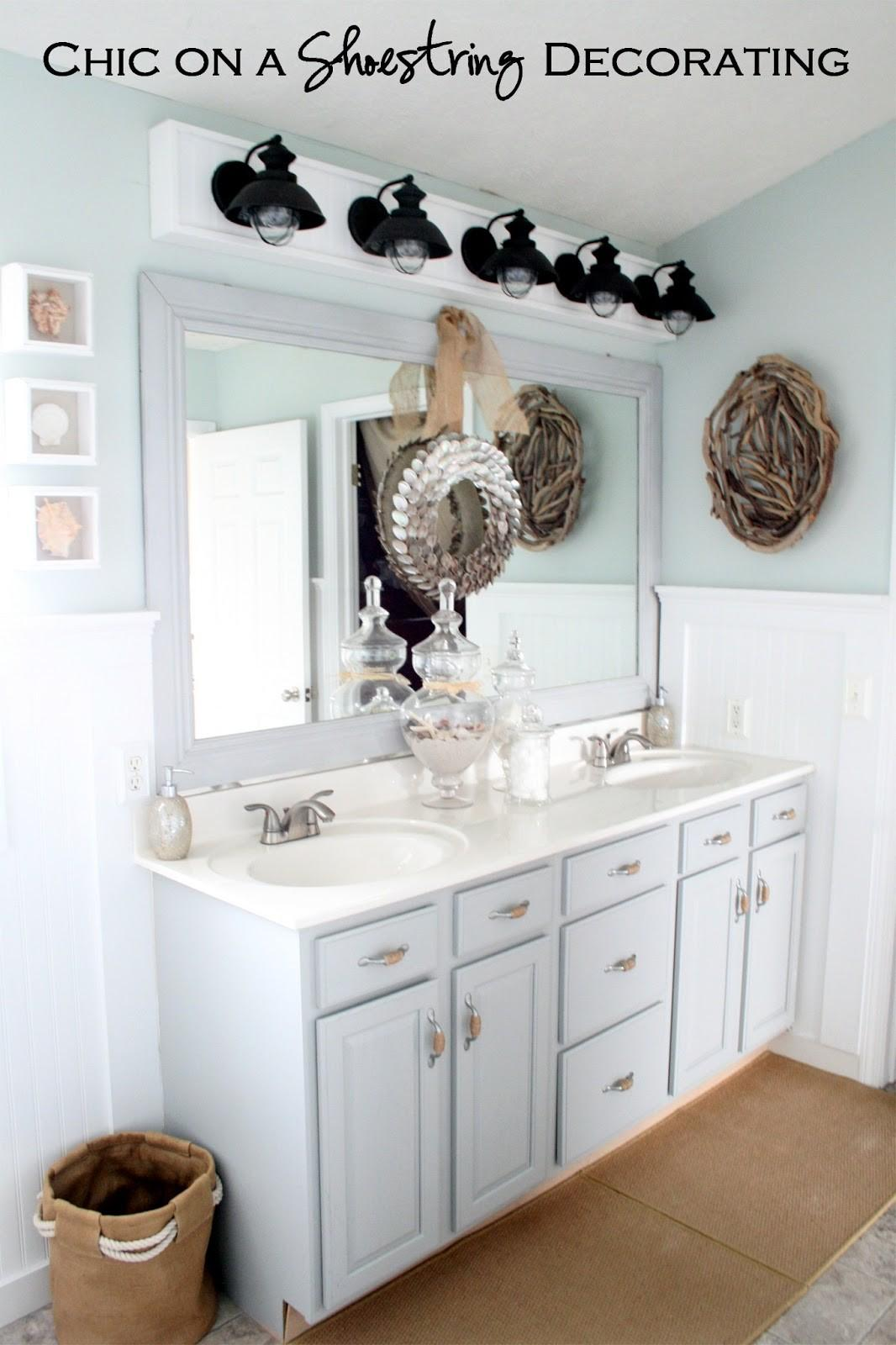 Chic Shoestring Decorating Build Bathroom