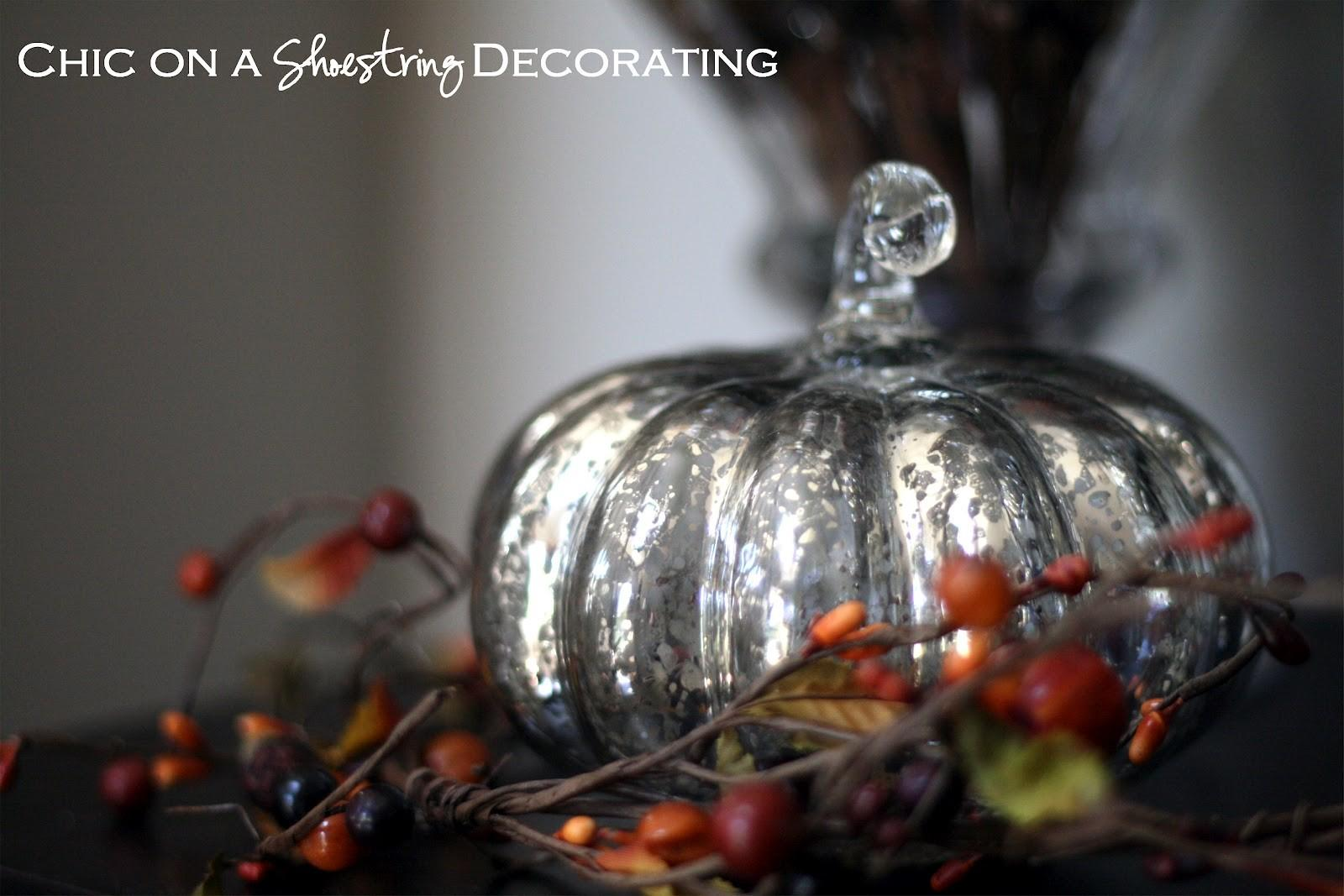 Chic Shoestring Decorating Pumpkinlicious Mercury Glass