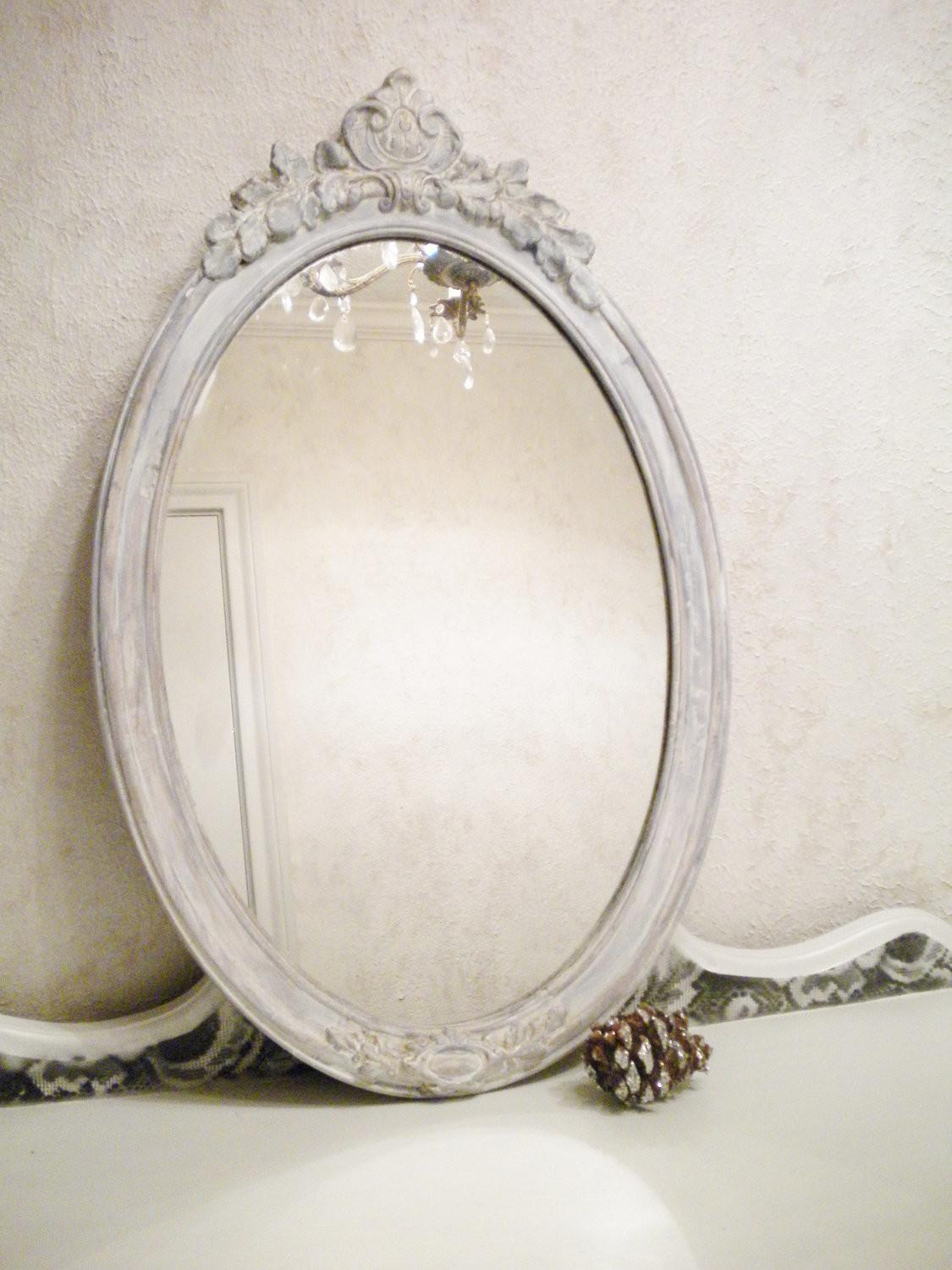 Chic Vintage Mirror Large Wood Shabby