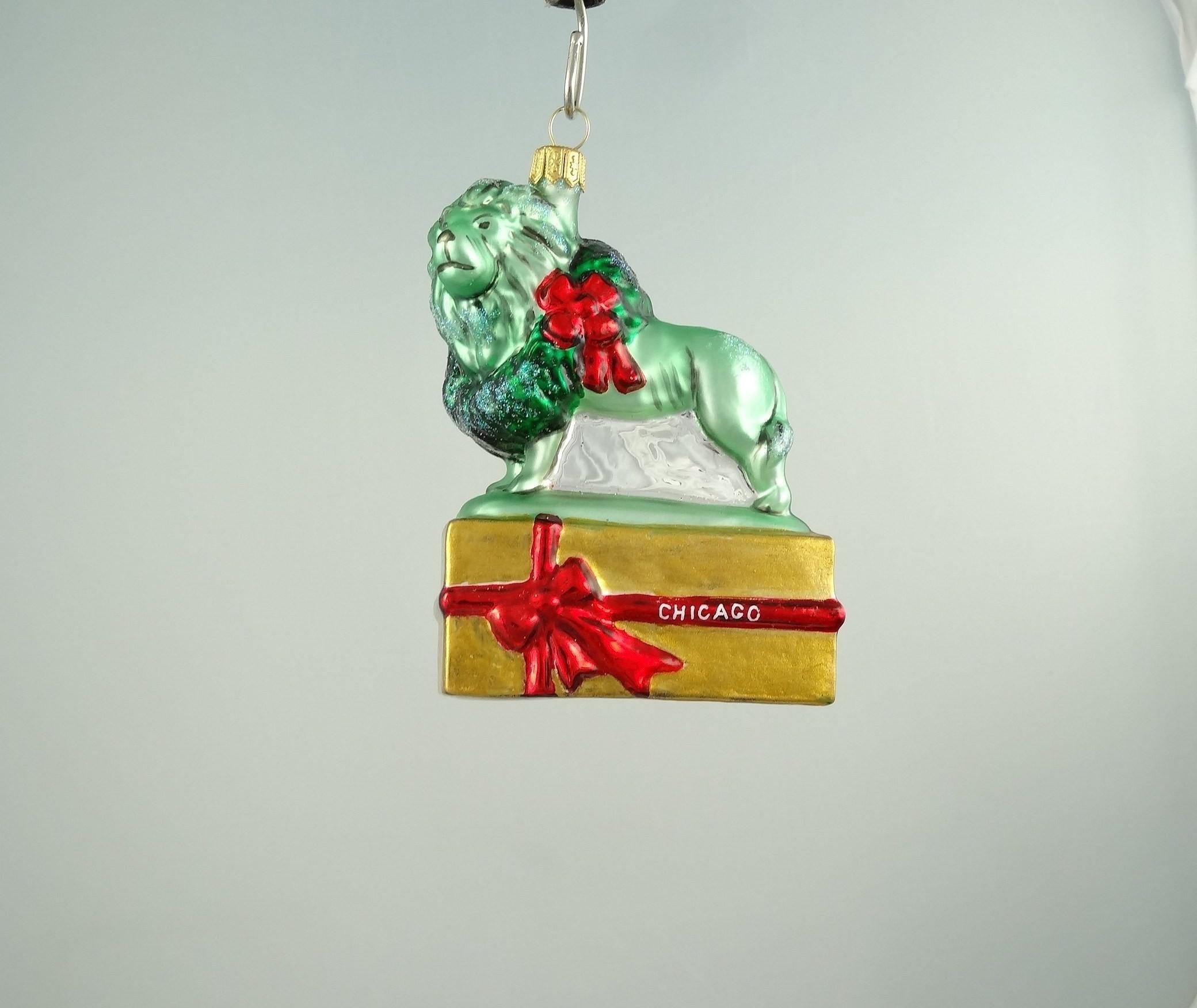 Chicago Lion Ornament Gold Mys949 Christmas