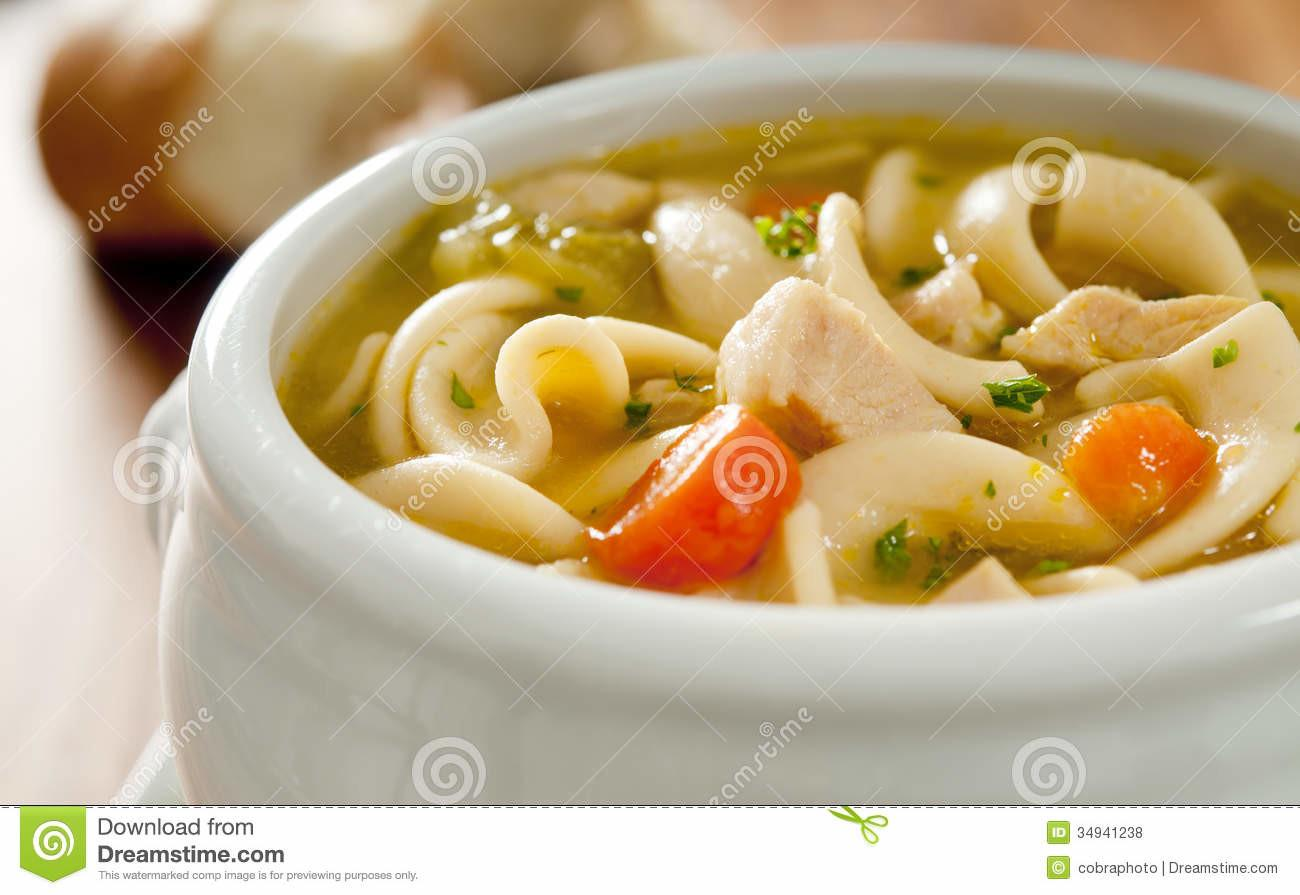 Chicken Noodle Soup Stock White Heat