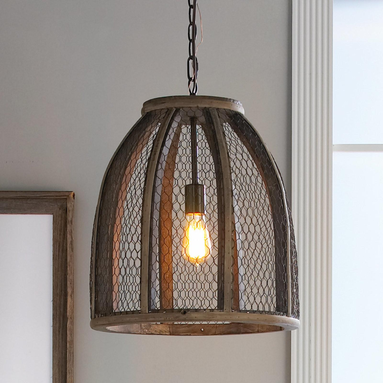 Chicken Wire Pendant Light Large Shades