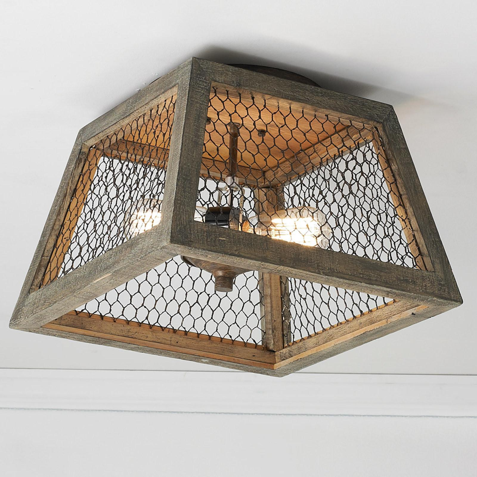 Chicken Wire Square Shade Ceiling Light Shades