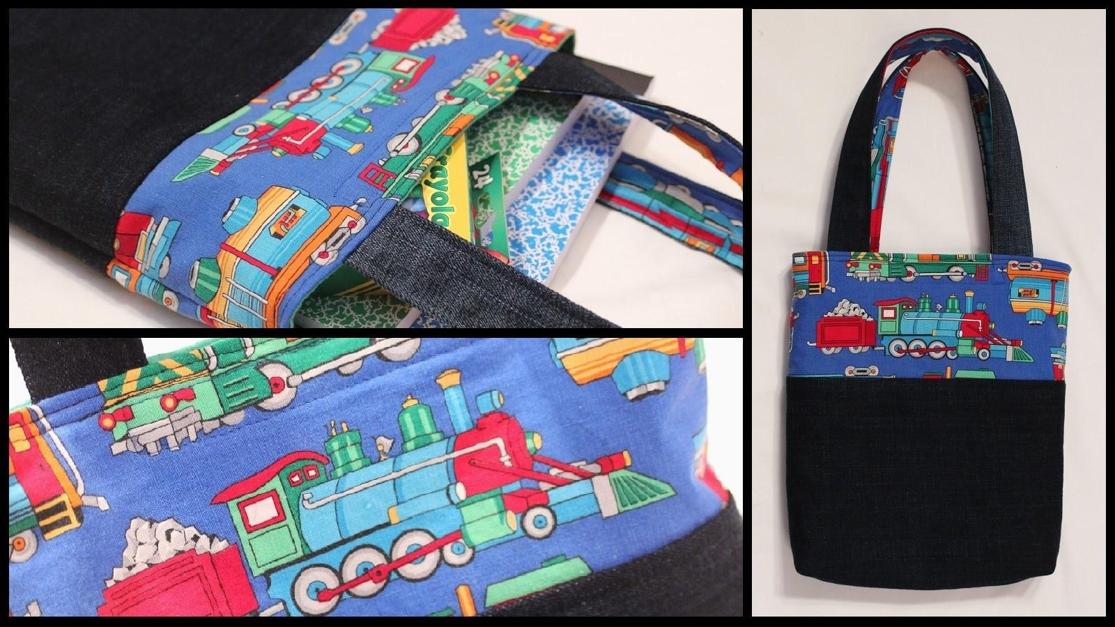 Child Lined Tote Bag Whitney Sews